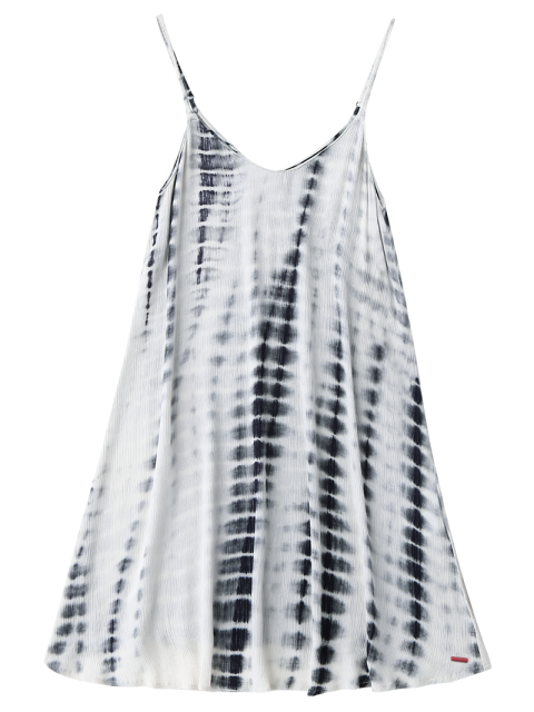 buy Tie-Dyed Trapeze Slip Dress - COLORMIX M Mobile