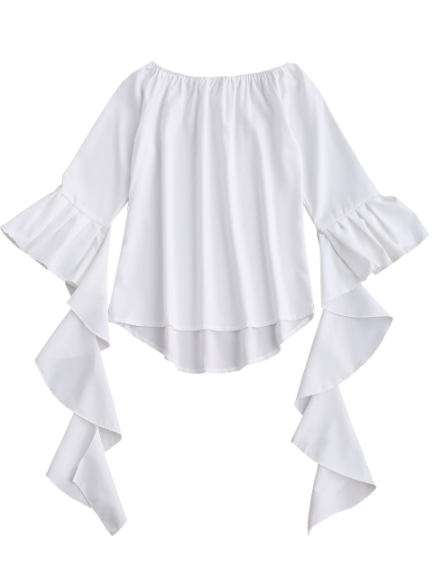 outfit Dramatic Bell Sleeve Off The Shoulder Top - WHITE XL Mobile