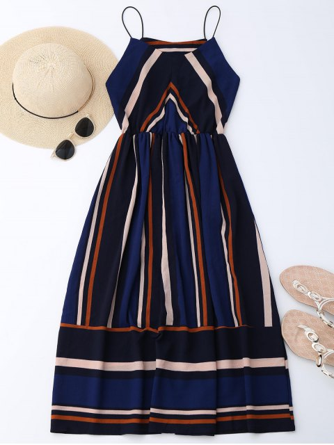online Multi Stripe Cami Midi Sundress - STRIPE M Mobile