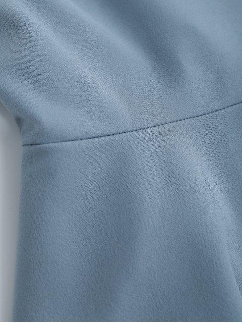 womens Bowknot Slip Skater Backless Dress - LIGHT BLUE L Mobile