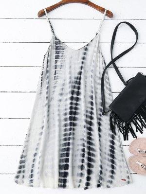 Tie-Dyed Trapeze Slip Dress