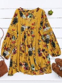 فستان قطع زهري تونيك - الأصفر M