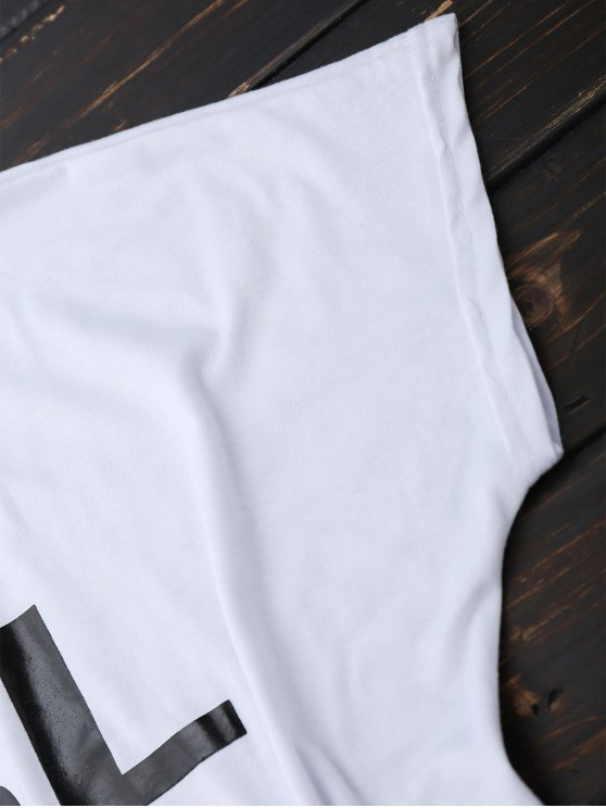Short Sleeve Rose Graphic T-Shirt - WHITE S Mobile