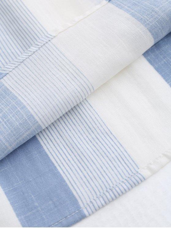 Off The Shoulder Stripes Blouse - STRIPE L Mobile