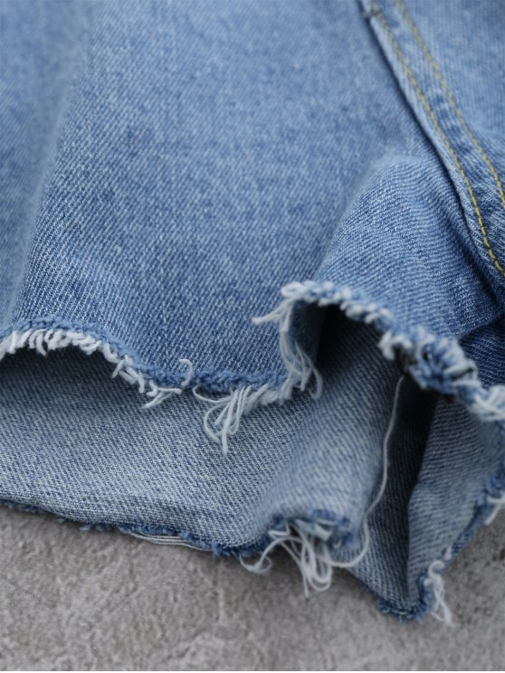 Cutoffs Ripped Shorts - LIGHT BLUE S Mobile