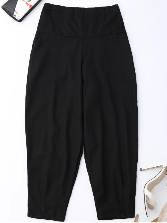 chic Carrot High Waist Pants - BLACK L