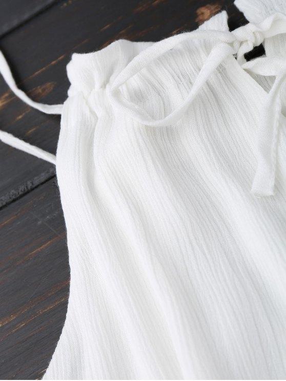 Slip Ruffle Summer Dress - WHITE S Mobile