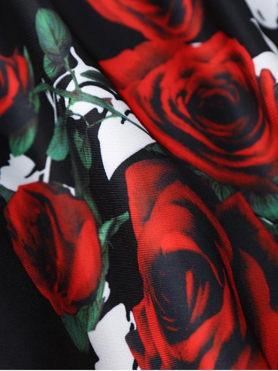 Rose Print Skirt - COLORMIX ONE SIZE Mobile