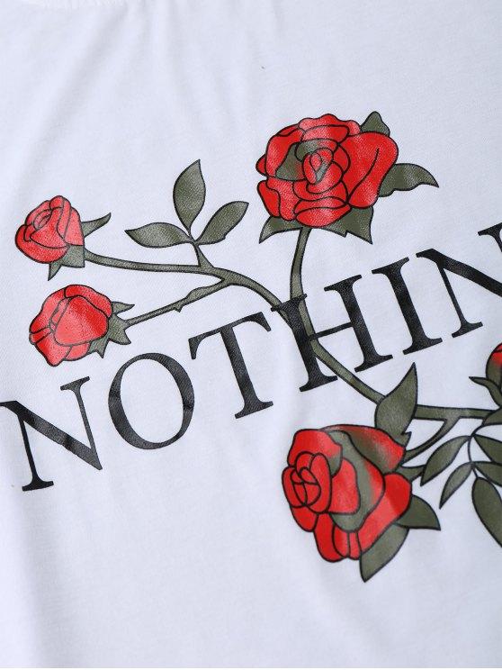 Nothing Rose Short Sleeve T-Shirt - WHITE S Mobile
