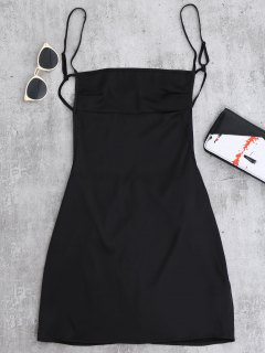 فستان عارية الظهر مصغر - أسود S