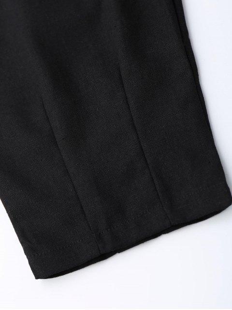 fashion Carrot High Waist Pants - BLACK M Mobile