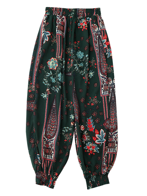 womens Floral Beach Bloomers - COLORMIX 2XL Mobile
