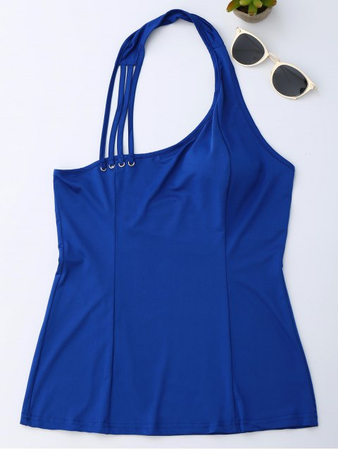 shop Halter Strappy Tank Top - ROYAL L Mobile
