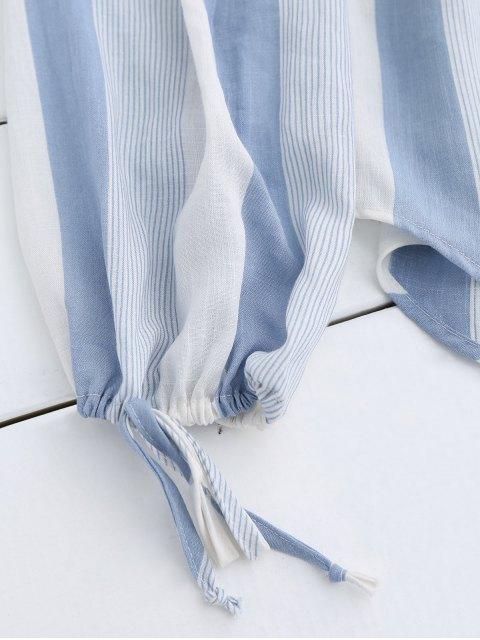buy Off The Shoulder Stripes Blouse - STRIPE L Mobile
