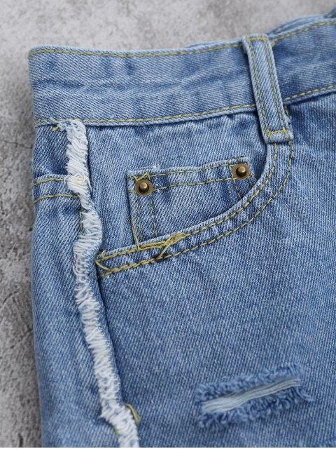 shops Cutoffs Ripped Shorts - LIGHT BLUE L Mobile