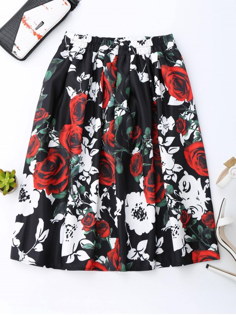 best Rose Print Skirt - COLORMIX ONE SIZE Mobile