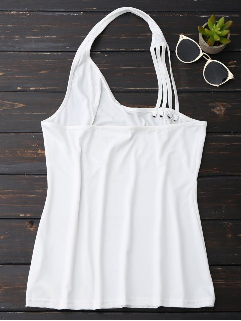 outfit Halter Strappy Tank Top - WHITE S Mobile