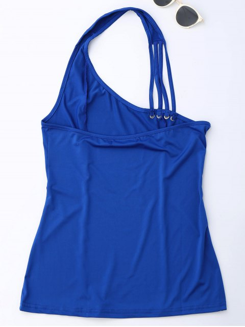 latest Halter Strappy Tank Top - ROYAL S Mobile