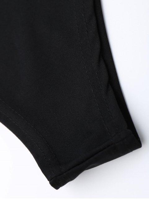 best One Shoulder Mesh Ruffle Bodysuit - BLACK XL Mobile