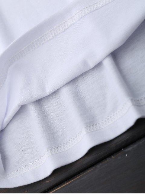 online Short Sleeve Rose Graphic T-Shirt - WHITE S Mobile