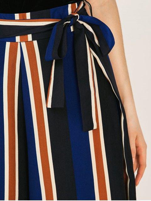 women Striped Wide Leg Palazzo Pants - STRIPE XL Mobile