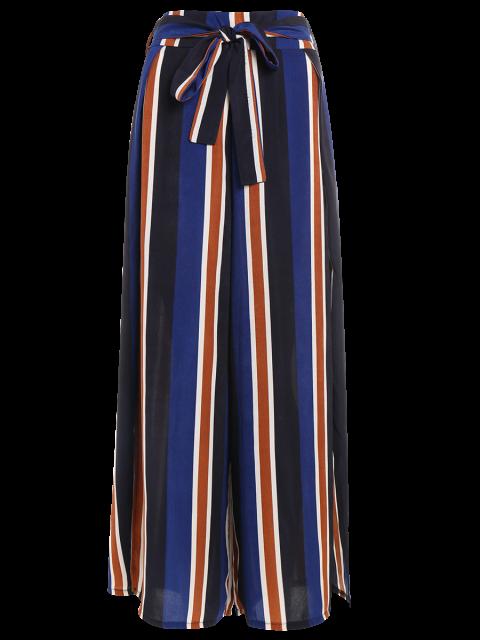 shops Striped Wide Leg Palazzo Pants - STRIPE S Mobile