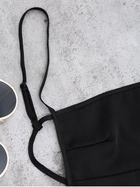 outfits Backless Mini Slip Dress - BLACK M Mobile