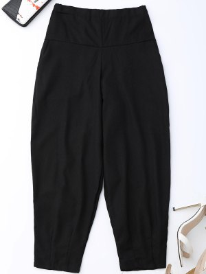 Carrot High Waist Pants - Black