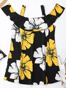 Robe d'été épaule froid floral