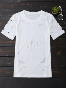 Ripped Short Sleeve T-Shirt