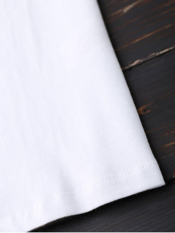 Faux Fur Bird Oversized Tee - WHITE S Mobile