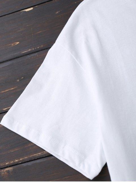 new Faux Fur Bird Oversized Tee - WHITE S Mobile