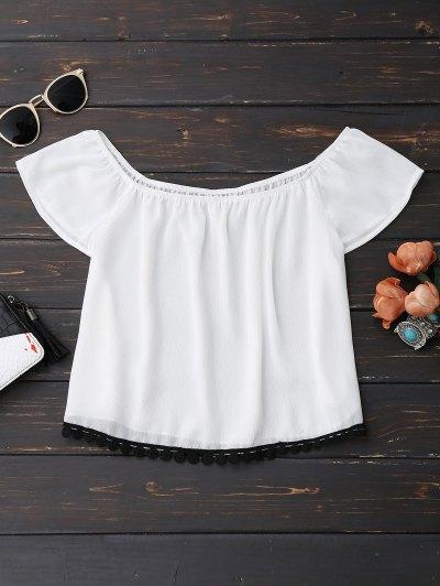 Top Hombros Vestidos De Gasa - Blanco Xl