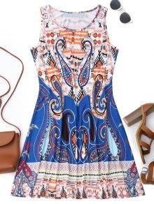 Sleeveless Graphic Print Flowy Dress