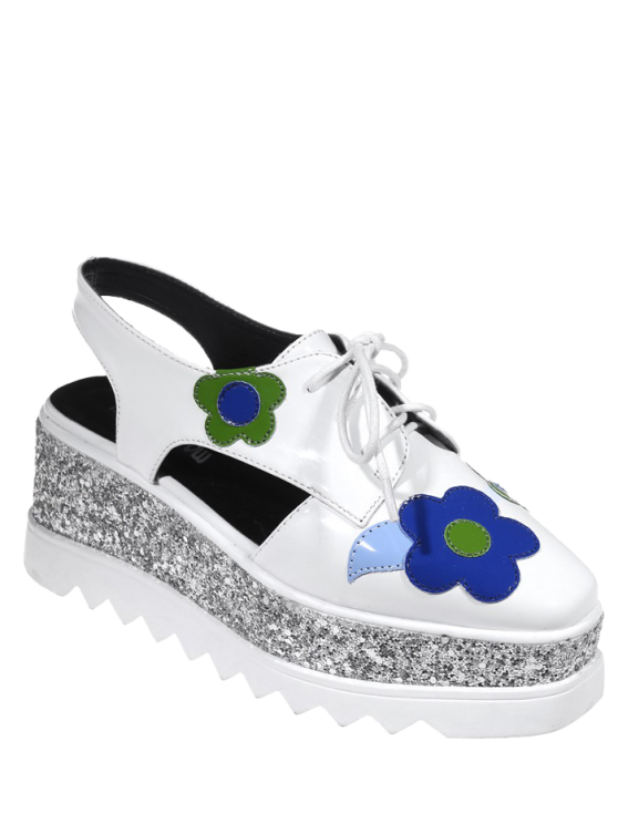 Chaussures à talons Square - Blanc 39