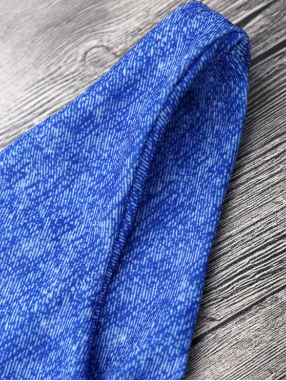 Front Knot Strappy Bikini Set - BLUE S Mobile
