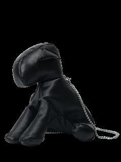 Dog Shaped Cross Body Bag - Black