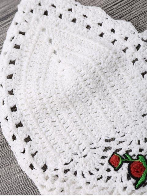lady Crochet Bralette Bikini Crop Top - WHITE ONE SIZE(FIT SIZE XS TO M) Mobile