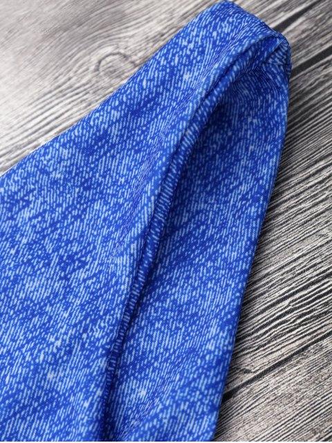 chic Front Knot Strappy Bikini Set - BLUE S Mobile