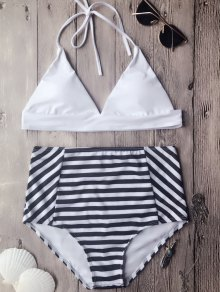 Soft Pad High Waisted Halter Bikini Set