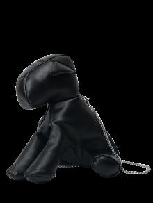 الكلب على شكل حقيبة عبر الجسم - أسود