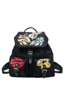 Patches Rivet Nylon Backpack