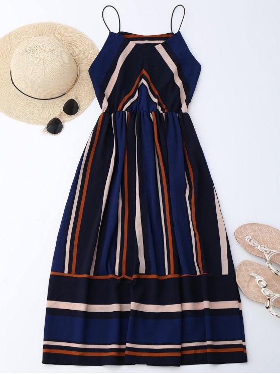 best Multi Stripe Cami Midi Sundress - STRIPE L