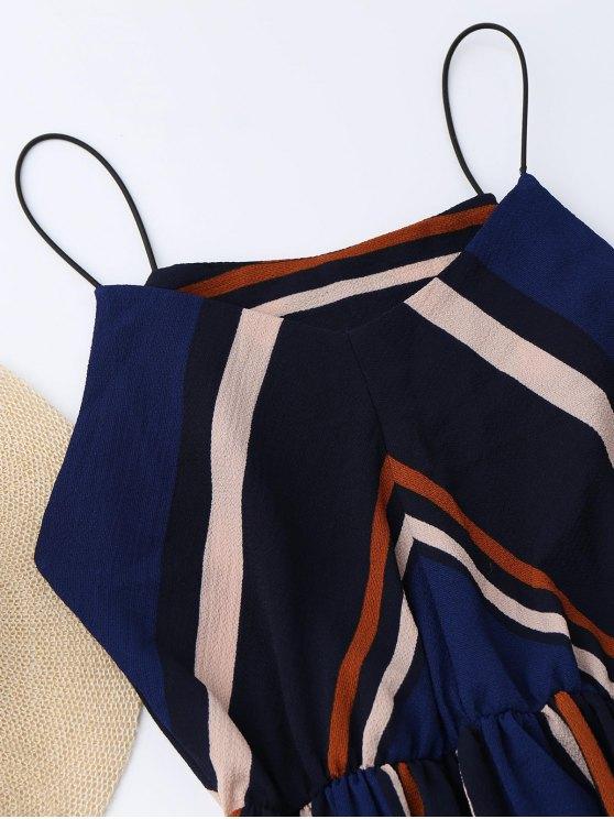 Multi Stripe Cami Midi Sundress - STRIPE L Mobile