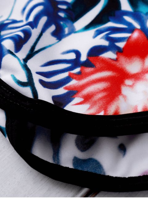 women Printed Crop Top and Boyshorts Bikini - FLORAL L Mobile