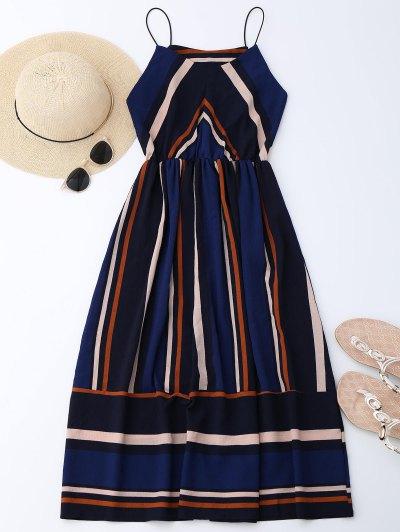 Multi Stripe Cami Midi Sundress - Stripe