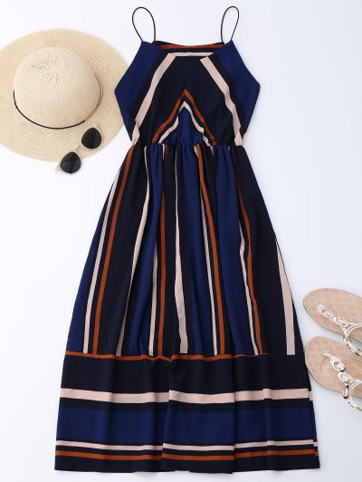 Multi Stripe Cami Midi Sundress - Stripe L