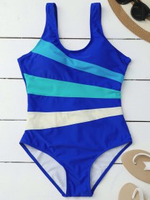 Stripes Slimming One Piece Swimsuit