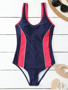 Sporty Slimming Padded One Piece Swimsuit