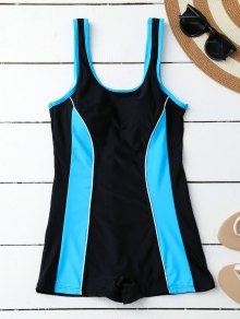 Sporty Slimming Boyleg One Piece Swimsuit